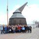 """Unter dem Motto """"Rostock maritim"""" haben 35 Altstipendiaten aus Mecklenburg-Vorpommern den Überseehafen der Hansestadt besucht. Auf dem Programm standen Vorträge und eine Hafenrundfahrt (Foto: Dr. Ralf Peoplau)."""